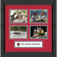 Tau Kappa Epsilon Photo Frame - Lasting Memories Quad Banner Collage Photo Frame in Arena