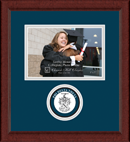 Phi Delta Theta Photo Frame - 5' x 7' - Lasting Memories Circle Logo Photo Frame in Sierra