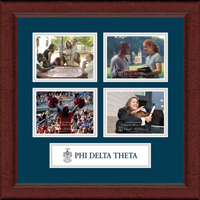 Phi Delta Theta Photo Frame - Lasting Memories Quad Banner Collage Photo Frame in Sierra