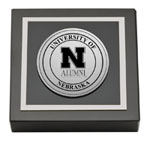 University of Nebraska Paperweight - Silver Engraved Medallion Paperweight