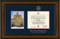 University of Pennsylvania Diploma Frame - Campus Scene Edition Diploma Frame in Madison