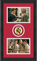 Theta Chi Photo Frame - Lasting Memories Double Circle Logo Photo Frame in Arena