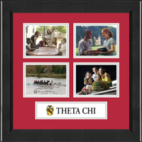 Theta Chi Photo Frame - Lasting Memories Quad Banner Collage Photo Frame in Arena