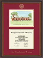 Rose Hulman Institute of Technology Diploma Frame - Campus Scene Edition Diploma Frame in Regency Gold