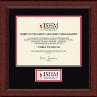 Institute for Safety and Health Management Certificate Frame - Lasting Memories Banner Edition Certificate Frame in Sierra