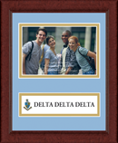 Delta Delta Delta Photo Frame - 4' x 6' - Lasting Memories Banner Photo Frame in Sierra