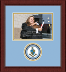 Delta Delta Delta Photo Frame - 5' x 7' - Lasting Memories Circle Logo Photo Frame in Sierra