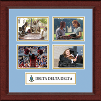 Delta Delta Delta Photo Frame - Lasting Memories Quad Banner Collage Photo Frame in Sierra