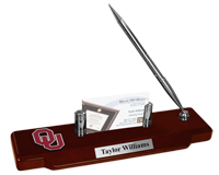 The University of Oklahoma Desk Pen Set - Spirit Medallion Desk Pen Set