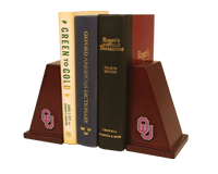 The University of Oklahoma Bookends - Spirit Medallion Bookends