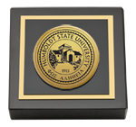 Humboldt State University  Paperweight - Gold Engraved Medallion Paperweight