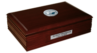 Creighton University Desk Box  - Pewter Masterpiece Medallion Desk Box