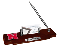 University of Nebraska Desk Pen Set - Spirit Medallion Desk Pen Set