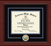 Acalanes High School in California Diploma Frame - Lasting Memories Circle Logo Diploma Frame in Sierra