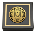 Alderson-Broaddus College Paperweight - Gold Engraved Medallion Paperweight