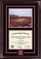 University of Nebraska Diploma Frame - Campus Scene Spirit Medallion Diploma Frame in Encore