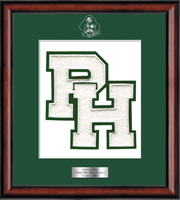 Parish Hill High School in Connecticut Varsity Letter Frame - Varsity Letter Frame in Southport