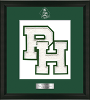 Parish Hill High School in Connecticut Varsity Letter Frame - Varsity Letter Frame in Omega