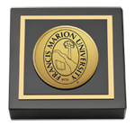 Francis Marion University Paperweight - Gold Engraved Medallion Paperweight
