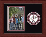 Alma College Photo Frame - Lasting Memories Circle Logo Photo Frame in Sierra