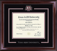 Texas A&M University Diploma Frame - Spirit Medallion Diploma Frame in Encore