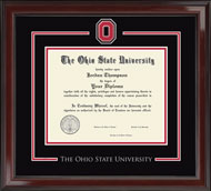 The Ohio State University Diploma Frame - Spirit Medallion Diploma Frame in Encore