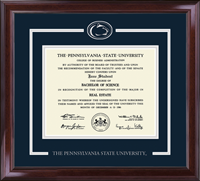 Pennsylvania State University Diploma Frame - Spirit Medallion Diploma Frame in Encore