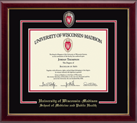 University of Wisconsin Madison Diploma Frame - Spirit Shield Curriculum Edition Diploma Frame in Gallery