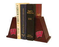 University of Wisconsin Madison Bookend - Spirit Motion Medallion Bookends