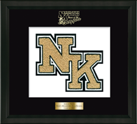 North Kingstown High School in Rhode Island Varsity Letter  Frame - Varsity Letter Frame in Omega