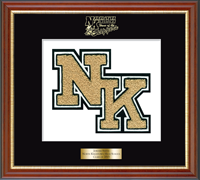 North Kingstown High School in Rhode Island Varsity Letter Frame - Varsity Letter Frame in Newport