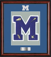 Middletown High School in New York Varsity Letter Frame - Varsity Letter Frame in Southport