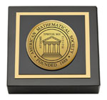 American Mathematical Society Paperweight - Gold Engraved Medallion Paperweight