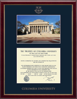 Columbia University Diploma Frame - Campus Scene Edition Diploma Frame in Galleria
