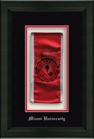 Miami University Shadow Box Frame - Commemorative Sash Shadow Box Frame in Omega