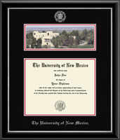 The University of New Mexico Diploma Frame - Campus Scene Diploma Frame in Onyx Silver
