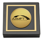 American Association for Marriage and Family Therapy Paperweight - Gold Engraved Medallion Paperweight