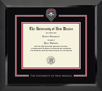 The University of New Mexico Diploma Frame - Spirit Medallion Diploma Frame in Eclipse