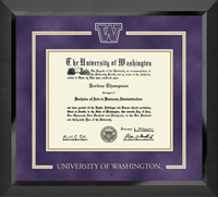 University of Washington Diploma Frame - Spirit Medallion Diploma Frame in Eclipse