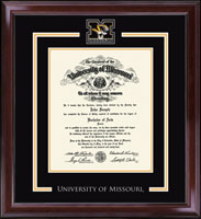 University of Missouri Columbia Diploma Frame - Spirit Medallion Diploma Frame in Encore