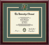 The University of Vermont Diploma Frame - Spirit Medallion Diploma Frame in Gallery