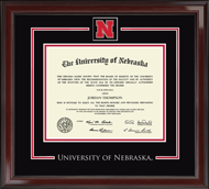 University of Nebraska Diploma Frame - Spirit Medallion Diploma Frame in Encore