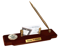 William & Mary Desk Pen Set - Masterpiece Cypher Logo Medallion Desk Pen Set