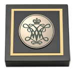 William & Mary Paperweight - Masterpiece Cypher Logo Medallion Paperweight