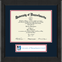 University of Massachusetts Lowell Diploma Frame - Lasting Memories Banner Diploma Frame in Arena