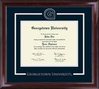 Georgetown University Diploma Frame - Spirit Medallion Diploma Frame in Encore