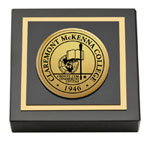 Claremont McKenna College Paperweight - Gold Engraved Medallion Paperweight