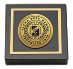 Alpha Beta Gamma Paperweight - Gold Engraved Medallion Paperweight