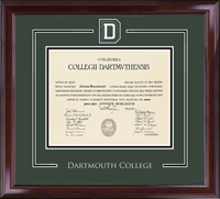 Dartmouth College Diploma Frame - Spirit Medallion Diploma Frame in Encore
