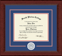 South Plains College Diploma Frame - Lasting Memories Circle Logo Diploma Frame in Sierra